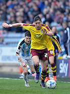 Stephen Ward of Burnley during the Sky Bet Championship match at the John Smiths Stadium, Huddersfield<br /> Picture by Graham Crowther/Focus Images Ltd +44 7763 140036<br /> 12/03/2016