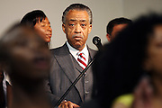 The Rev. Al Sharpton speaks at the National Action Network in Harlem during his weekly Saturday broadcast.