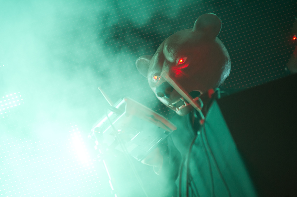 The Teddybears roil the electronic waters with a look and sound unmatched throughout the festival.