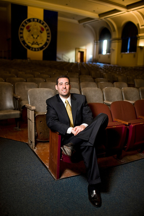 Portrait of Joshua Kaplan at Drexel University.