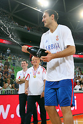 Nenad Krstic of Serbia at friendly match between Serbia and Croatia for Adecco Cup 2011 as part of exhibition games before European Championship Lithuania on August 9, 2011, in SRC Stozice, Ljubljana, Slovenia. (Photo by Urban Urbanc / Sportida)