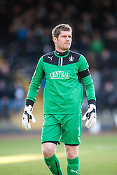 Falkirk's keeper Michael McGovern. Dundee 1 v 1 Falkirk, Scottish Championship game at Dundee's home ground Dens Park.