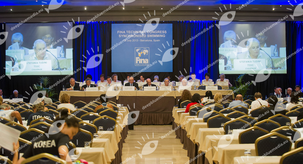 FINA Synhcronized swimming Technical Congress<br /> Hotel Fira Palace, Barcelona (Spain) 18/07/2013 <br /> FINA World Championships Barcelona 2013<br /> &copy; Giorgio Perottino / Deepbluemedia