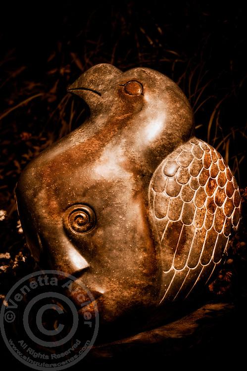 Zimsculpt at Van Dusen Botanical Garden: Dreaming of Flying - opal stone sculpture by Godfrey Kututwa (original sculpture available at www.zimsculpt.com)