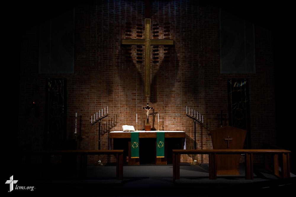 The altar of Faith Lutheran Church on Tuesday, Aug. 1, 2017, in Sioux Falls, SD.  LCMS Communications/Erik M. Lunsford