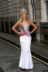 Current Miss England Alize Lily Mounter launches the  Miss England dress recycled charity auction, supporting underprivileged children worldwide in London, Wednesday 9th May 2012. Photo by: Chris Joseph / i-Images