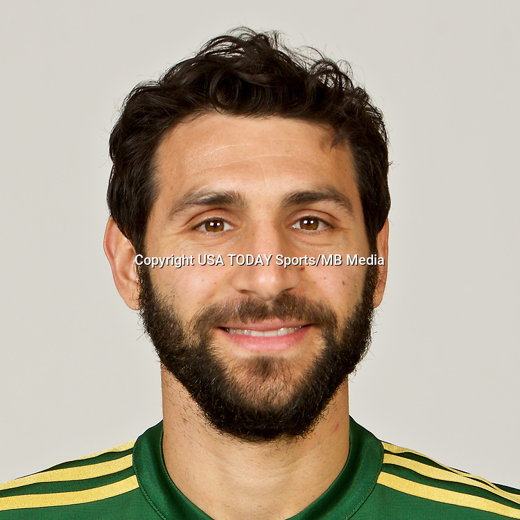 Feb 25, 2017; USA; Portland Timbers player Diego Valeri poses for a photo. Mandatory Credit: USA TODAY Sports