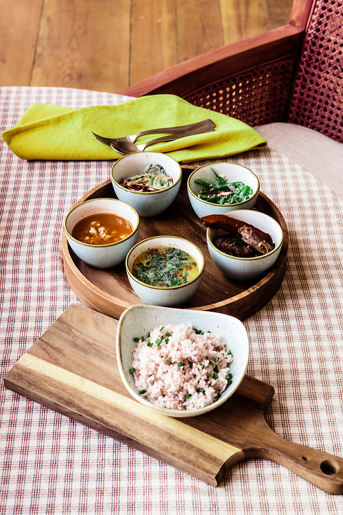 Traditional Bhutanese dishes with twist by chef Parash Chhetri