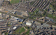 aerial photograph of Lowfield  Sheffield West Yorkshire England UK