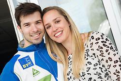 Rok Klavora and his girlfriend Simona Fabjan during Qualifications day of Artistic Gymnastics World Cup Ljubljana, on April 26, 2013, in Hala Tivoli, Ljubljana, Slovenia. (Photo By Vid Ponikvar / Sportida.com)