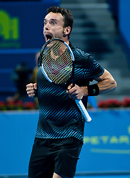 DOHA, Jan. 6, 2019  SP)QATAR-DOHA-TENNIS-QATAR OPEN.    Roberto Bautista Agut of Spain celebrates.    after winning the final match against Tomas Berdych of Czech Republic at the ATP Qatar Open tennis tournament in Doha, capital of Qatar, Jan. 5, 2019. Roberto Bautista Agut claimed the title by defeating Tomas Berdych with 2-1. (Credit Image: © Yangyuanyong/Xinhua via ZUMA Wire)