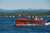 1929 Chris Craft 26' triple cockpit driven by Bill Irwin of Irwin Marine in Laconia, New Hampshire.