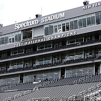ORLANDO, FL - SEPTEMBER 08:  A 2017 National Champions banner is seen on the press box prior to a game between the South Carolina State Bulldogs and the UCF Knights at Spectrum Stadium on September 8, 2018 in Orlando, Florida. (Photo by Alex Menendez/Getty Images) *** Local Caption ***