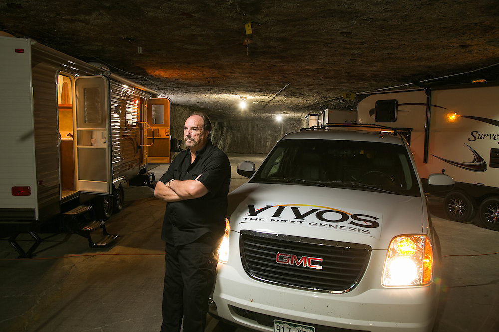 Robert Vicinos is the founder of The Vivos Project and was pictured at the project's Kansas site in 2013.