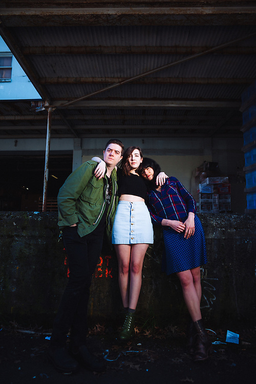 Summer Cannibals photographed for Vortex Music Magazine, outside Produce Row Cafe in Portland, March 2016