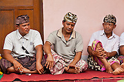Apr. 22 - UBUD, BALI, INDONESIA:   Guests at a wedding in a home in Ubud, Bali, Indonesia. Weddings in Bali have three parts, the first is the ceremony where the couple is wedded. Then the wedding party goes to the bride's family home so the bride can say goodbye to her family. Then there is a wedding reception which is quite similar to western wedding receptions.  Photo by Jack Kurtz/ZUMA Press.