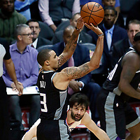 26 December 2017: Sacramento Kings guard George Hill (3) takes a jump shot during the LA Clippers 122-95 victory over the Sacramento Kings, at the Staples Center, Los Angeles, California, USA.