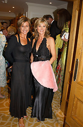 Left to right, TV presenters EMMA FORBES and ANTHEA TURNER at The Caron Keating Foundation Dinner in honour of the late TV presenter who died in April 2004, held at The Savoy, London on 4th October 2004.<br />