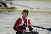 Caversham, Nr Reading, GREAT BRITAIN, Sam TOWNSEND, BIRO Sculling Test, invited scullers under go a time trial and then a six abreast race over 2000 meters at the British International Rowing complex at Caversham Lake, on Wed 22.11. 2006. [Photo, Peter Spurrier/Intersport-images]. Rowing course: GB Rowing Training Complex, Redgrave Pinsent Lake, Caversham, Reading