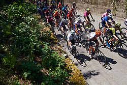 Nikola Noskova (CZE) and Ashleigh Moolman Pasio (RSA) on the front of the peloton on Stage 3 of 2019 Giro Rosa Iccrea, a 104.7 km road race from Sagliano Micca to Piedicavallo, Italy on July 7, 2019. Photo by Sean Robinson/velofocus.com