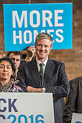Conservative candidate for Mayor of London Zac Goldsmith was joined by current Mayor of London Boris Johnson today at a Back Zac 2016 rally in Christ Church, Wanstead Place,  Wanstead  - the rally took place with an invited audience.