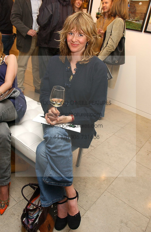 CATHERINE FITZGERALD at an exhibition of photographs entitled 'Protect The Human' by photographers Jake Gavin and Sean Gleason commissioned by Amnesty Internationlal and held at The Hospital, 24 Endell Street, London WC2 on 31st May 2006.<br />