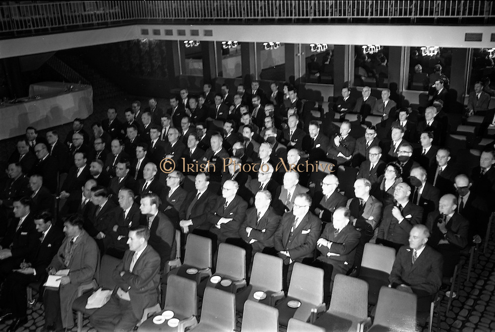 13/02/1963<br /> 02/13/1963<br /> 13 February 1963<br /> International Apprentices Competition Press Conference at the Shelbourne Hotel, Dublin to announce details of the International Trade Competitions for Apprentices to be held in Dublin from 8-13th July 1963. A general view of the attendees at the conference.