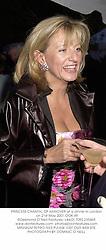 PRINCESS CHANTAL OF HANOVER at a dinner in London on 21st May 2001.OOK 49