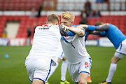 Reading Defender Paul McShane (5) warms up before kick off during the EFL Sky Bet Championship match between Brentford and Reading at Griffin Park, London, England on 16 September 2017. Photo by Andy Walter.