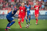 Fotball<br /> 28.05.2017<br /> Eliteserien<br /> Brann Stadion<br /> Brann - Aalesund<br /> Adam Örn Arnarson (L) og Edwin Oppong Anane-Gyasi (2R) , Aalesund<br /> Kristoffer Barmen (3R) og Ruben Kristiansen (R) , Brann<br /> Foto: Astrid M. Nordhaug