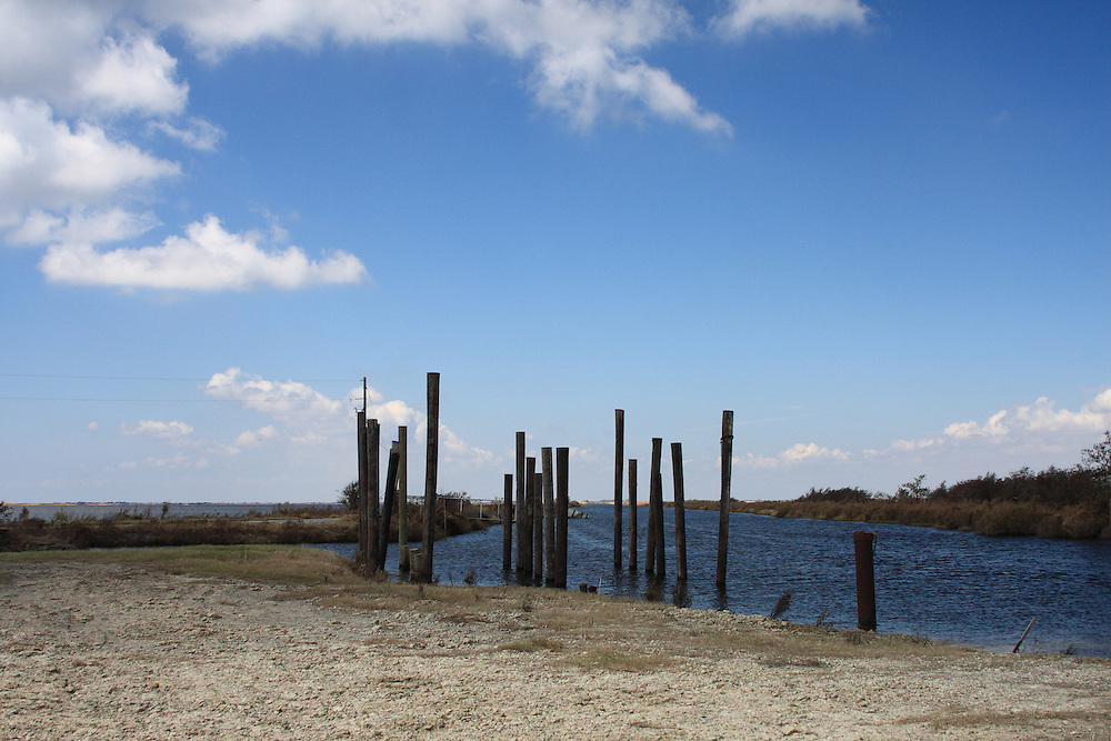 Pilings and Canal, Cameron Parish, LA