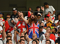 Rugby Union - 2019 Rugby World Cup - Quarter-Final: England vs. Australia<br /> <br /> England fans in good spirits before the game, at Oita Stadium, Oita Prefecture.<br /> <br /> COLORSPORT/ASHLEY WESTERN