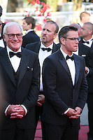 Producer Jerry Weintraub and actor Matt Damon at the 'Behind The Candelabra' gala screening at the Cannes Film Festival  Tuesday 21 May 2013