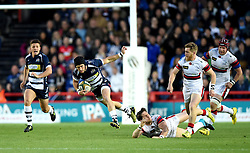 Bristol Rugby replacement Matthew Morgan escapes a tackle - Mandatory byline: Joe Meredith/JMP - 25/05/2016 - RUGBY UNION - Ashton Gate Stadium - Bristol, England - Bristol Rugby v Doncaster Knights - Greene King IPA Championship Play Off FINAL 2nd Leg.