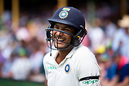 Indian player Mayank Agarwal smiles before the game at the 4th Cricket Test Match between Australia and India at The Sydney Cricket Ground in Sydney, Australia on 03 January 2019.