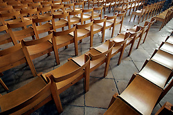 UK ENGLAND CANTERBURY 15OCT05 - Rows of chairs inside Canterbury Cathedral..jre/Photo by Jiri Rezac..© Jiri Rezac 2005.Contact: +44 (0) 7050 110 417.Mobile: +44 (0) 7801 337 683.Office: +44 (0) 20 8968 9635..Email: jiri@jirirezac.com.Web: www.jirirezac.com..© All images Jiri Rezac 2005 - All rights reserved.