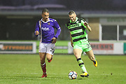 Forest Green Rovers Alexander Iacovitti(20) runs forward during the The FA Cup match between Forest Green Rovers and Exeter City at the New Lawn, Forest Green, United Kingdom on 2 December 2017. Photo by Shane Healey.