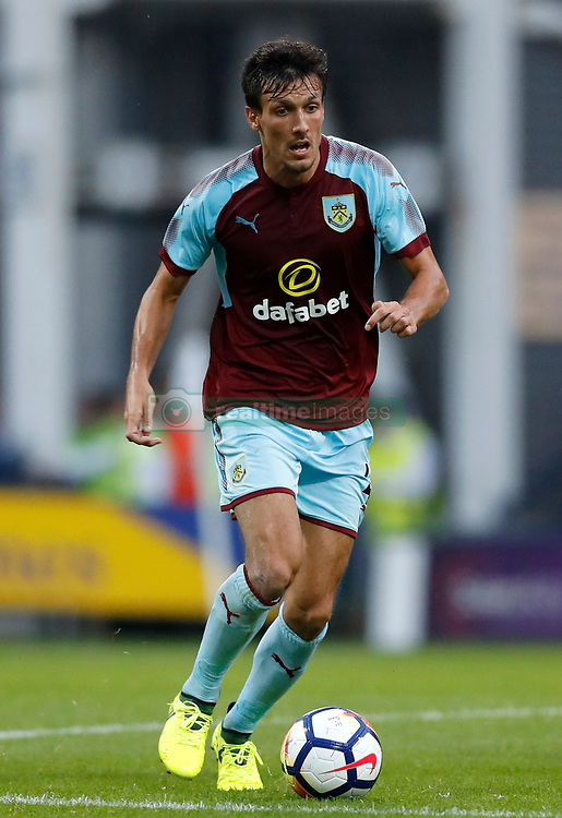 """Burnley's Jack Cork during the pre-season friendly match at Deepdale, Preston. PRESS ASSOCIATION Photo. Picture date: Tuesday July 25, 2017. See PA story SOCCER Preston. Photo credit should read: Martin Rickett/PA Wire. RESTRICTIONS: EDITORIAL USE ONLY No use with unauthorised audio, video, data, fixture lists, club/league logos or """"live"""" services. Online in-match use limited to 75 images, no video emulation. No use in betting, games or single club/league/player publications."""