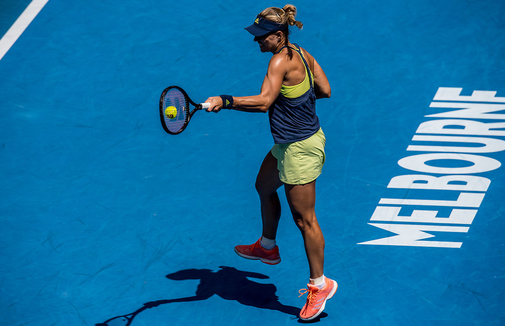Angelique Kerber of Germany on day ten of the 2018 Australian Open in Melbourne Australia on Wednesday January 24, 2018.<br /> (Ben Solomon/Tennis Australia)