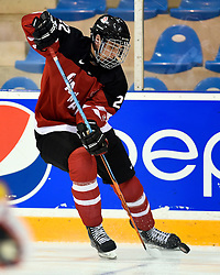 Logan Brown of the Windsor Spitfires represented Team Canada Red at the World Under-17 Hockey Challenge in Sarnia and Lambton, ON November 2-8, 2014. Photo by Aaron Bell/CHL Images