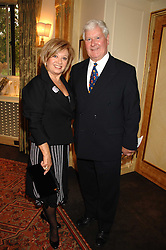 ELAINE PAIGE and SIR CHAY BLYTH at a tribute lunch for Elaine Paige hosted by the Lady Taverners at The Dorchester, Park Lane, London on 13th November 2007.<br /><br />NON EXCLUSIVE - WORLD RIGHTS