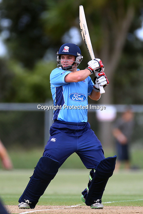 Brad Cachopa during the Ford Trophy match between the Auckland Aces v Wellington Firebirds. Men's domestic 1 day cricket. Colin Maiden Park, New Zealand. Sunday 29 January 2012. Ella Brockelsby / photosport.co.nz