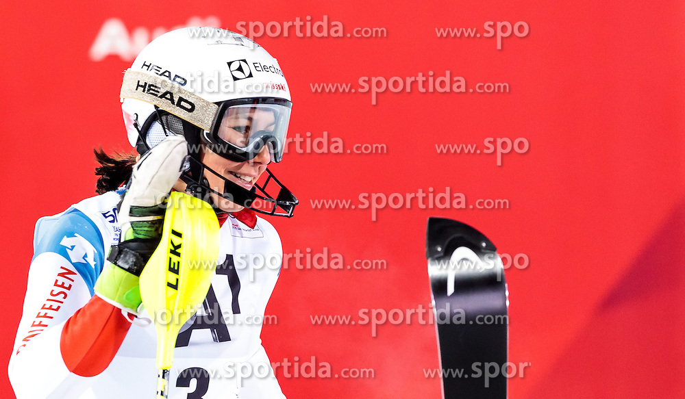 10.01.2017, Hermann Maier Weltcupstrecke, Flachau, AUT, FIS Weltcup Ski Alpin, Flachau, Slalom, Damen, 2. Lauf, im Bild Wendy Holdener (SUI) // Wendy Holdener of Switzerland reacts after her 2nd run of ladie's Slalom of FIS ski alpine world cup at the Hermann Maier Weltcupstrecke in Flachau, Austria on 2017/01/10. EXPA Pictures © 2017, PhotoCredit: EXPA/ Johann Groder