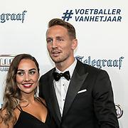 NLD/Hilversum/20190902 - Voetballer van het jaar gala 2019, Luuk de Jong en partner Lizanne van Zutven