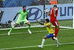 June 27, 2018 - Moscow, Russia - Group E Serbia v Brazil - FIFA World Cup Russia 2018.Aleksandar Mitrovic (Serbia) missed a goal at Spartak Stadium in Moscow, Russia on June 27, 2018. (Credit Image: © Matteo Ciambelli/NurPhoto via ZUMA Press)