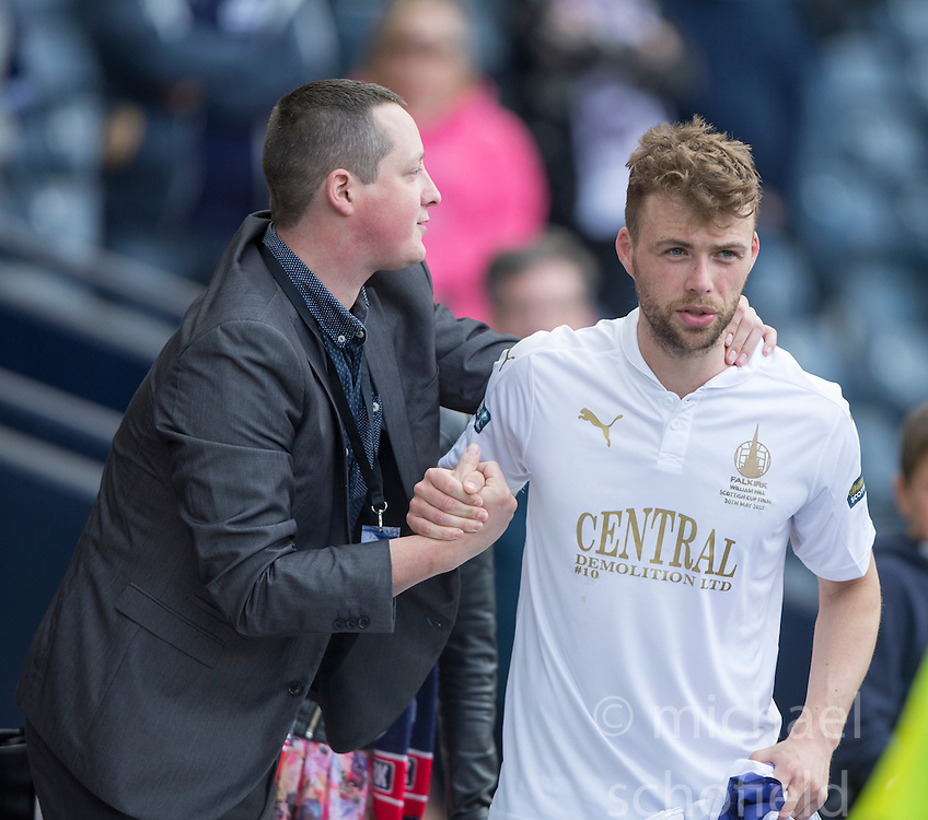 Falkirk's Rory Loy at the end. Falkirk 1 v 2 Inverness CT, Scottish Cup final at Hampden.