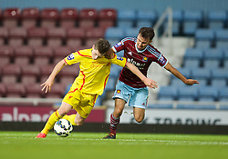 UPTON PARK, ENGLAND - Friday, September 12, 2014: Liverpool's Ryan Kent in action against West Ham United during the Under 21 FA Premier League match at Upton Park. (Pic by David Rawcliffe/Propaganda)