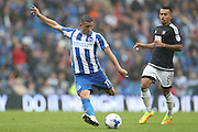 Brighton & Hove Albion winger Anthony Knockaert (11) shoots at goal during the EFL Sky Bet Championship match between Brighton and Hove Albion and Brentford at the American Express Community Stadium, Brighton and Hove, England on 10 September 2016.