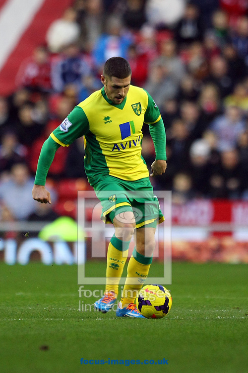 Picture by Paul Chesterton/Focus Images Ltd +44 7904 640267<br /> 21/12/2013<br /> Gary Hooper of Norwich in action during the Barclays Premier League match at the Stadium Of Light, Sunderland.