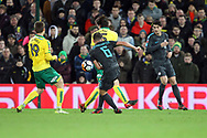 Danny Drinkwater of Chelsea has a shot on goal during the FA Cup match at Carrow Road, Norwich<br /> Picture by Paul Chesterton/Focus Images Ltd +44 7904 640267<br /> 06/01/2018